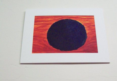 """Jocelyn Reese's """"Black Hole: Summer"""" - oil on paper, 2011.  (Once again, I'm short, and this piece was about 9 feet off the ground - sorry about the angle.)"""