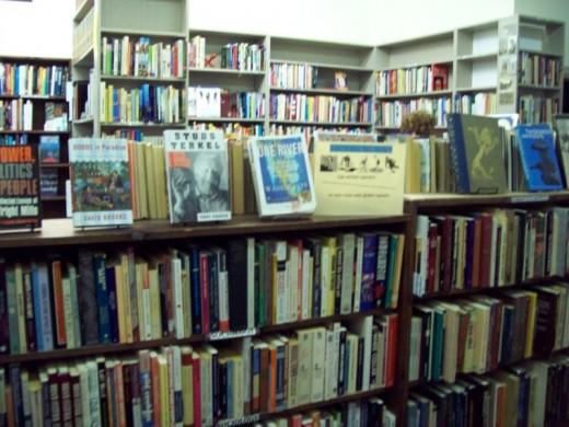 The plethora of media at Montford Books.