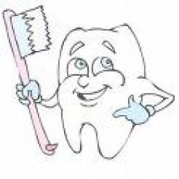 Healty Tooth with Toothbrush