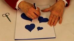 Create a stencil for Valentine's day