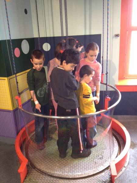 Bubble Hoop in the Wonders of Water Exhibit at Port Discovery Children's Museum