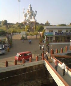 View of the Shiva Statue from the hotel