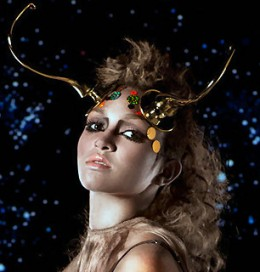 Capricorn woman with horns of Capricorn sign