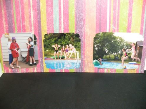 Adhere photos to coordinating mat