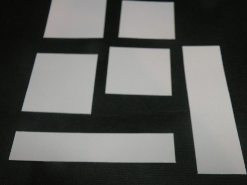 Cut strips for journaling