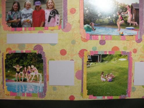 Adhere journaling squares