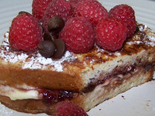 Stuffed French Toast .......................Gooey Gluten Free Goodness