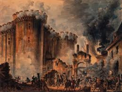 The Bastille Prison, stormed by Parisians on the 14th July 1789