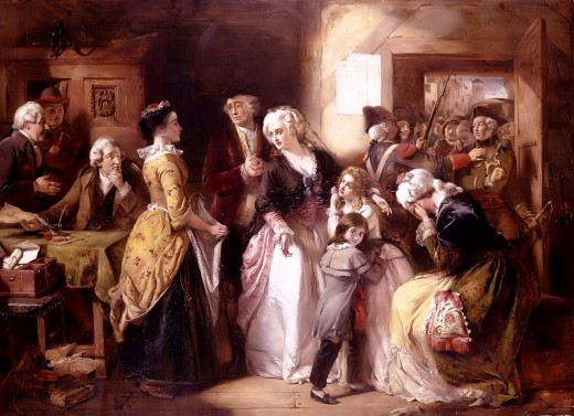 Louis XVI and his family just after his arrest in 1791.