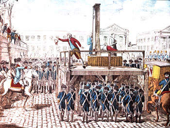 The Executioner shows Louis' head to the French Crowd.