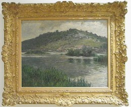 """Landscape at Port-Villez"" by Claude Monet (1883). European Impressionism, Museo Soumaya, founded by the richest man in the world, Carlos Slim Helu. Mexico City."
