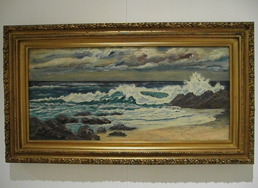 """Seascape"" by Joaquin Clausell (1st third of XX). Sample of Mexican Impressionism. Museo Soumaya, founded by the richest man in the world, Carlos Slim Helu."