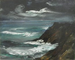 """Seascape"" by Maurice de Vlaminck (first half of the XX century). European Impressionism, Museo Soumaya, founded by the richest man in the world, Carlos Slim Helu. Mexico City."