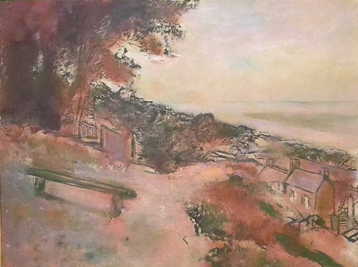 """Landscape at the Seashore"" by Edgar Degas (c1895-1898). European Impressionism, Museo Soumaya, founded by the richest man in the world, Carlos Slim Helu. Mexico City."