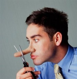If your nose has been growing, will suddenly having radical honesty make it shorter?