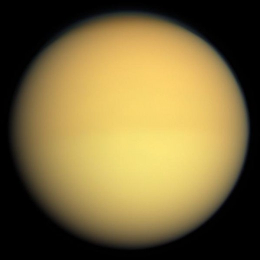 This is Titan, a moon of Saturn. No, you-- can't touch it, it's not soft and fuzzy, it's an image. No-- what? Enough with the questions already!