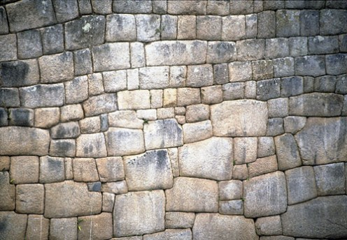 Detail of stone work at Machu Picchu
