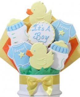 It's A Boy Cookie Bouquet