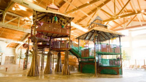 The indoor water park at Great Wold Lodge, Poconos,PA