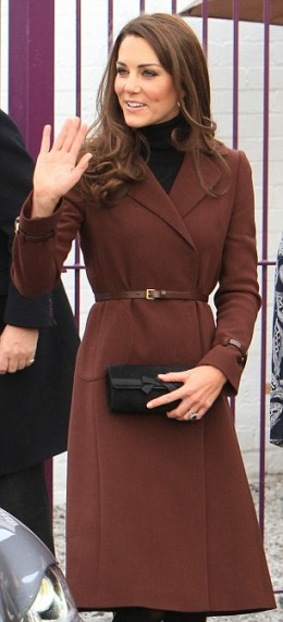 The classic brown single-breast belted coat from Hobbs is already sold out.