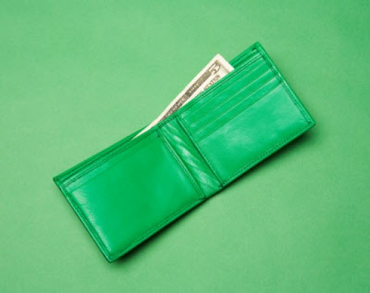 Green wallet for green living; Image source: www.bhgrealestate.com
