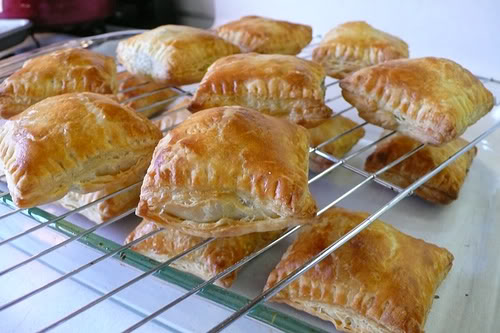Homemade puff pastries