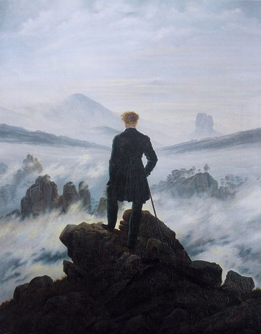 Friedrich - Wanderer above the sea of clouds