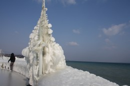 Nature ice Sculpture, Versoix  Marina & Lake Prominade, Lake Geneva, Switzerland