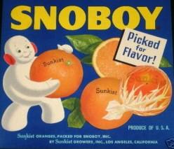 free cross stitch pattern Snoboy Oranges