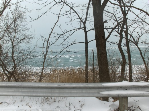 When you have illness in your home everything looks pretty bleak.  Lake Michigan in Winter