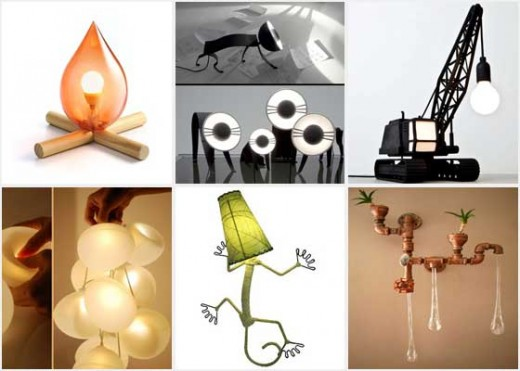 Amusing and unusual lamp collection