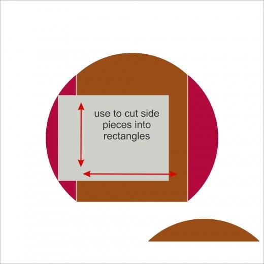 step 5 - use to trim side piece