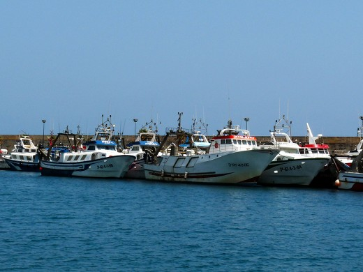 Some of the Fishing Boats of Villajoyosa