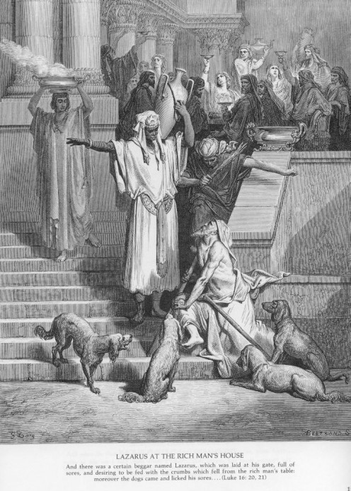 Lazarus at the Rich Man's House, Gustave Doré (1832-1883)
