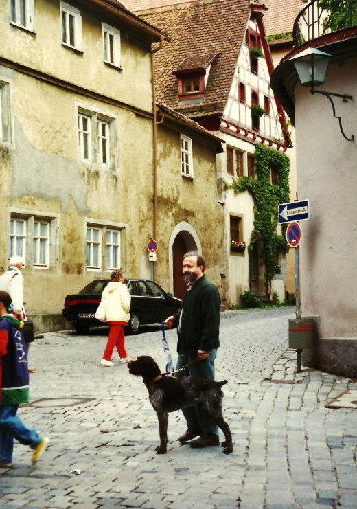 Street scene in Rothenburg, Germany