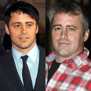 Matt LeBlanc in early years and recent years