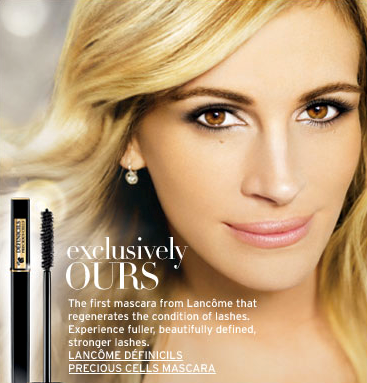 The only things I have in common with Julia Roberts are our beautiful eyelashes