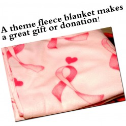 Make a Fleece Blanket with Theme Pattern Fabrics, a No Sew Project