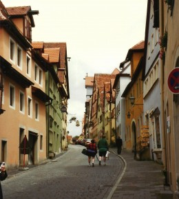 Street in Rothenburg, Germany