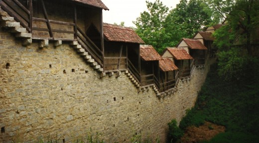 Defensive wall around the City of Rothenburg