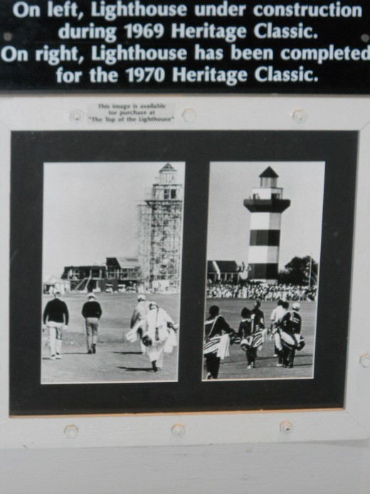 Display showing the building of the lighthouse.