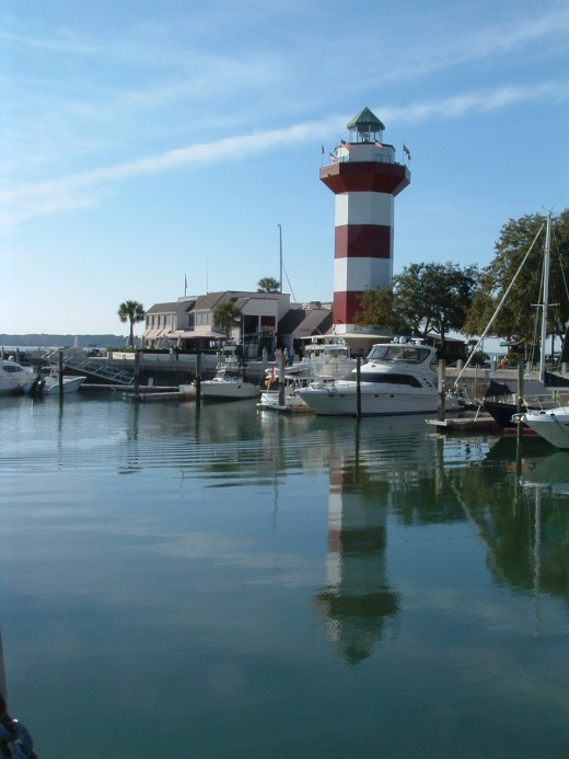 View of the Lighthouse Museum from the other side of Harbour Town Marina.