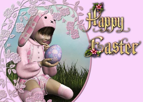 Make an Easter Card 2 - Flat Colored Background