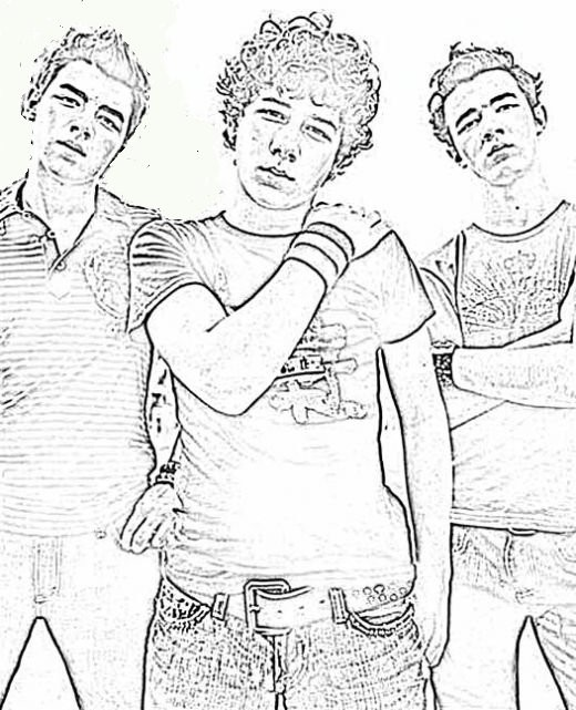 Free Jonas Brothers Coloring Pages to Print - Download Free, save,