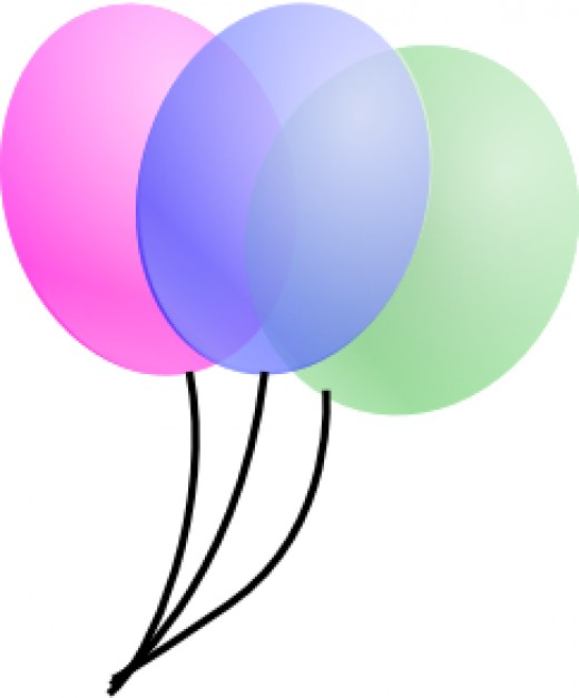 Helium balloons. They are far too cheap.