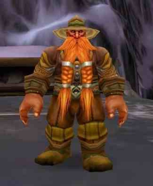 Brann Bronzebeard, youngest of the Bronzebeard Bros., standing in Ulduar waiting for adventurers to take some quests from him.