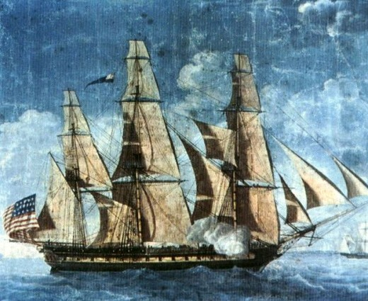 The earliest known depiction of USS Constitution - Attributed to Michel Felice Corné (1752–1845)