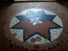 Inlay work on the floor