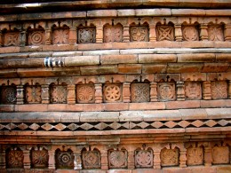 Terracotta art on the mosque