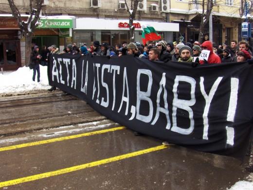 Bulgarian ACTA protesters.